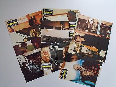 Zombie Dawn of the Dead George A Romero complete Spanish Lobby Card set - marked