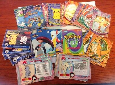 Lot of 100 Topps Pokemon Trading Cards TV Animation Edition and More!