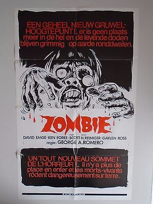 Zombie Dawn of the Dead George A Romero Belgian Poster