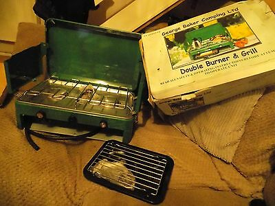 George Baker Camping Double Burner With Grill