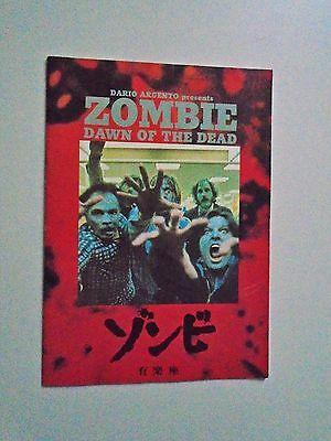 Zombie Dawn of the Dead George A Romero Japanese Press book 18 pages colour & BW