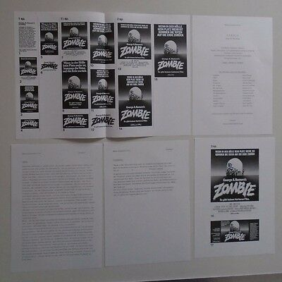Zombie Dawn of the Dead George A Romero German Press Book + B&W poster sheet.