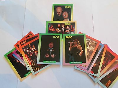 AC/DC- 17 collector cards - complete band set - 1991 Rock Cards