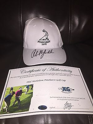 Phil Mickelson Signed Autographed Us Open Masters Pinehurst Golf Hat Cap-Coa
