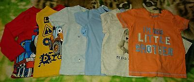 Baby Boys Bundle of Tops Mixed Colours Size 6-9 Months