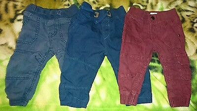 Baby Boys Bundle of Mixed Colour Trousers Size 6-9 Months