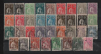 Portugal Colonies 1914 Angola Ceres Set Of 14 Mint & 20 Cancelled