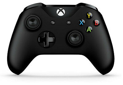 Genuine Microsoft (6CL-00001) Xbox One S Black Wireless Bluetooth Controller UD