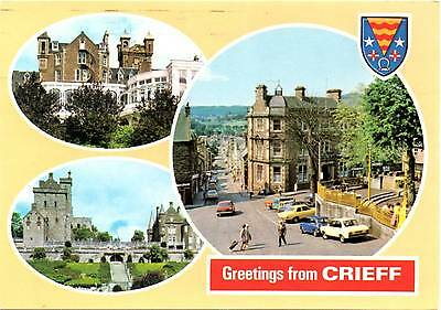 Greetings from Crieff - Multiview - Scotland  - Dennis Postcard 1987