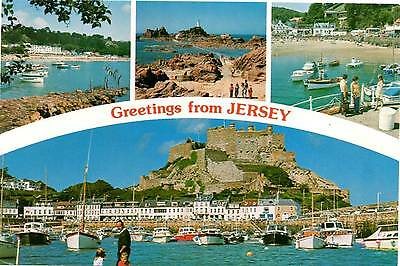 Greetings from Jersey - Multiview - Channel Islands - Postcard 1979
