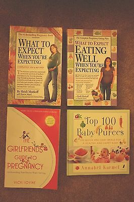 Pregnancy and Baby 4 pack of  books WHAT TO EXPECT WHEN...4th Ed.