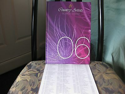 Country Artists 2006 Limited Edition Collectors Book.