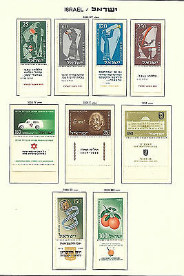 1955/6 Collection Of Israel Stamps