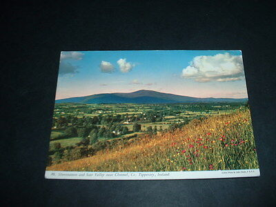 IRELAND  POSTCARD  MT. SLIEVENMON AND SUIR VALLEY NR. CLONMEL Co TIPPERARY
