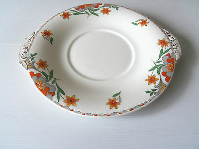 """Vintage/retro Sandwich/cake  Plate-""""alfred Meakin"""" - Red Ruth"""