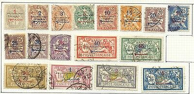 French Morocco - Complete series 1914-1921