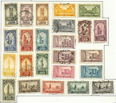 French Morocco - Complete series 1923-1927