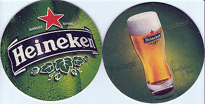 ★ HEINEKEN ★  collection prestige 2010  #2 Sous bock coaster deckel