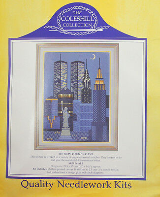 RARE Vintage  The Coleshill  needle work kit New York Sky Line