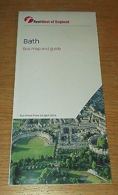 First West of England Bath Bus Map and Guide Apr 2016 mint condition
