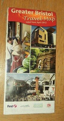 Greater Bristol Travel Map April 2012 good condition (First Group and councils)
