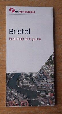 First West of England Bristol Bus Map and Guide May 2016 mint condition LATEST