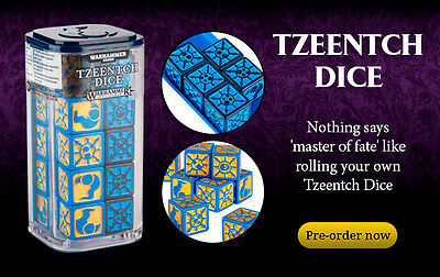 Tzeentch Dice with tray! LIMITED EDITION Age of Sigmar SOLD OUT New Sealed box!