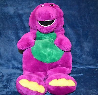 """Barney The Dinosaur By Boots  22"""" Pyjama Case / Hot Water Bottle Cover Soft Toy"""