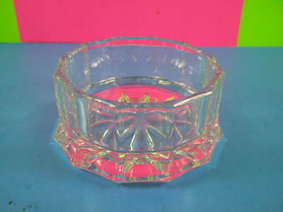 small glass Crystal Candy Dish with cut design