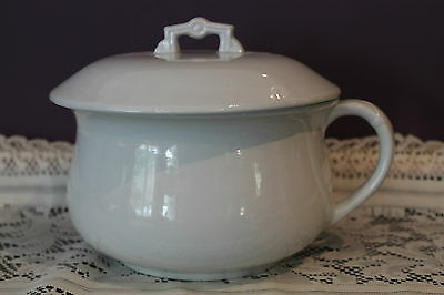Antique Bishop Stonier England Ironstone Chamber Bowl And Lid