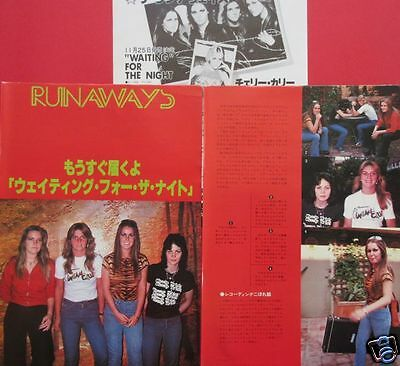 Runaways Joan Jett Lita Ford Sandy West 1977 Clipping Japan Rs 12A 5Page