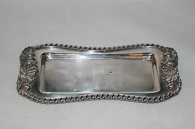 Antique Victorian Silver Plated Snuffer Tray with Acorns