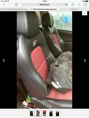 Fiesta St Front And Rear Seats Black And Red Leather Good Condition