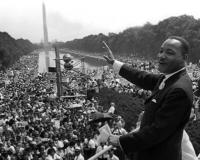 1963 MARTIN LUTHER KING JR Glossy 8x10 Photo African American Civil Rights!