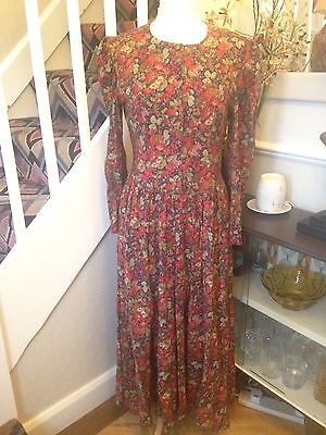 1980s Laura Ashley floral   dress size UK 12 vintage/retro