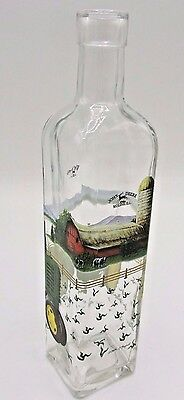 John Deere Model H Decorative Home Decor Glass Bottle Signed: Beth O'bryant