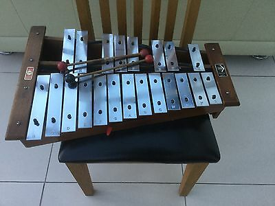 Vintage Wooden Hohner London Xylophone With Sticks Great Sound Approved