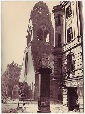 Russian Wwii Press Photo: View Of Destroyed Berlin, May 1945