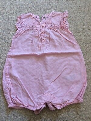 Pretty M&S Playsuit Pink. 0-3months.