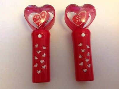 Valentine's Day Light-Up Spinner Wands Set of 2
