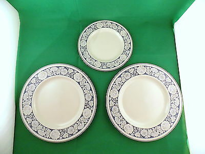 Royal Doulton Oakdene 2 x Dinner Plates and Salad Plate