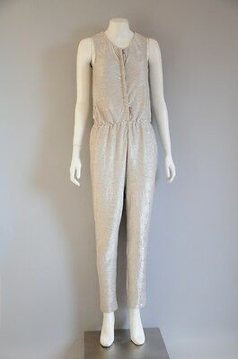 NWT 'Next' Girls's Silver Sleeveless Jumpsuit / Playsuit {Size 12}