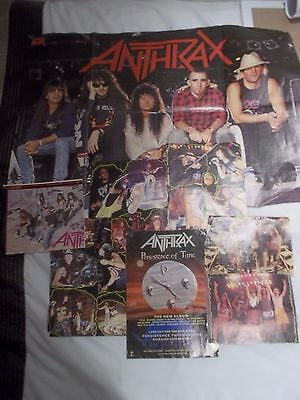80s / 90s Heavy Metal Anthrax Magazine Cuttings