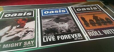 Oasis set of 3 prints , size A3, highest quality heavy 300gsm art print paper
