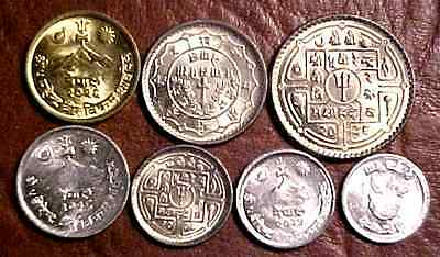 Nepal 7 Coin Set....unc....min. Bid .01 & No Reserve!