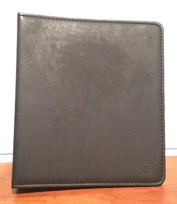 Genuine BMW Leather A5 Sized ring Binder Folder 4-Ring With Space For Cards