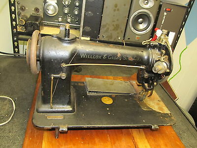 Antique Willcox Gibbs Commercial Industrial Sewing Machine