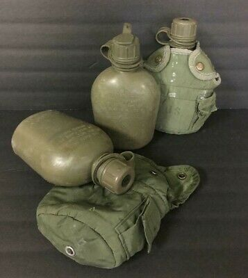 Genuine Usgi Us Military Surplus 1 Quart Water Canteen And Cover - Army Od Green