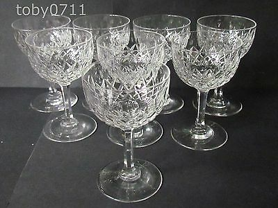 EDWARDIAN CRYSTAL SET OF EIGHT COCKTAIL GLASSES (Ref657)