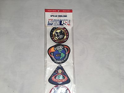 Vintage APOLLO EMBLEMS Patches ~ Kennedy Space Center (Set of 12) Nasa Spaceport